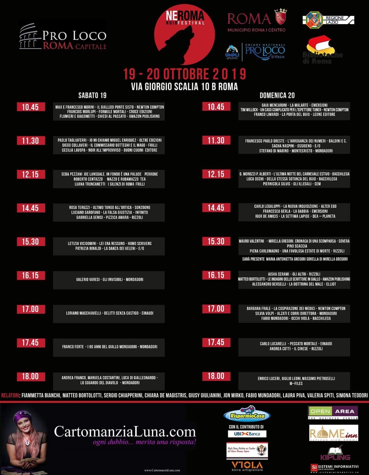 Neroma Noir Festival 2019 programma